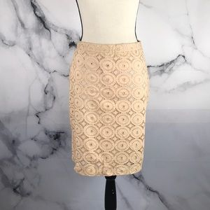 🦋BANANA REPUBLIC🦋 lined eyelet pencil skirt 1